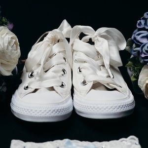 Bridal Converse with Satin Laces